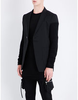 Rick Owens Knit-sleeve Wool Jacket