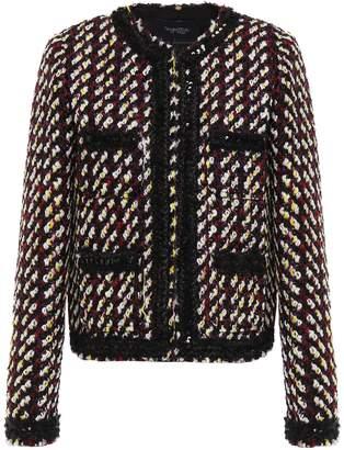 Giambattista Valli Sequined Wool And Cotton-blend Tweed Jacket
