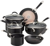 Anolon Infused Copper 9-Piece Cookware Set, Black