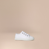 Burberry Leather Lace-Up Trainers