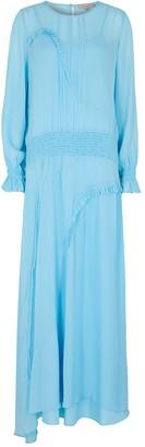 Preen Line Cornflower Blue Chiffon Maxi Dress