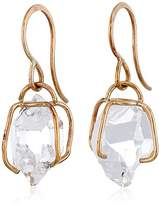"Melissa Joy Manning New Elements"" 14k Gold Large Herkimer Imitation Diamond Earrings"