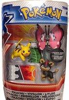 Pokemon Mega Figure 3 Pack Tomy Pikachu Vivillon Litleo