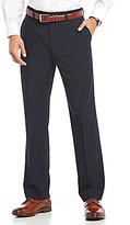 Roundtree & Yorke Ultimate Comfort TravelSmart Flat Front Tic Weave Dress Pants