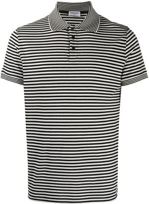 Saint Laurent Horizontal-Stripe Short-Sleeve Polo Shirt