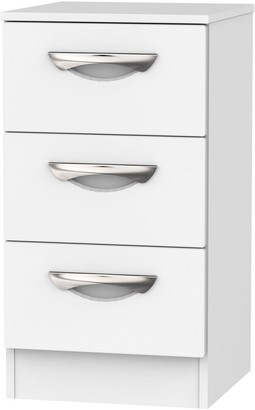 Canterbury of New Zealand Swift Ready Assembled 3 Drawer Bedside Cabinet