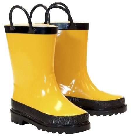 Washington Shoe Company Kid's Firechief Rain Boots - Yellow