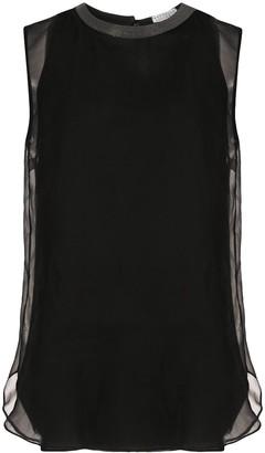 Brunello Cucinelli sheer layer silk blouse