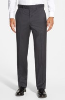 JB Britches Men's 'Torino' Flat Front Wool Trousers