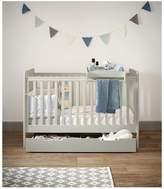 Mamas and Papas Mia Vista Cot Bed, Top Changer & Under-Bed Storage