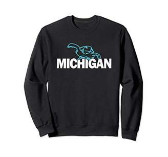 Michigan Badass Blue Sea Turtle Sweatshirt