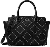 MICHAEL Michael Kors Diamond Grommet Selma Medium Top Zip Satchel