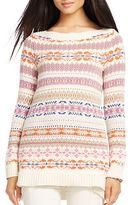 Lauren Ralph Lauren Geometric Cotton Blend Sweater