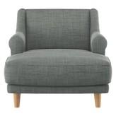 Townsend Italian woven fabric lounge chair