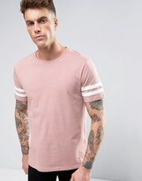 Brooklyn Supply Co. Brooklyn Supply Co College Stripe Sleeve T-Shirt