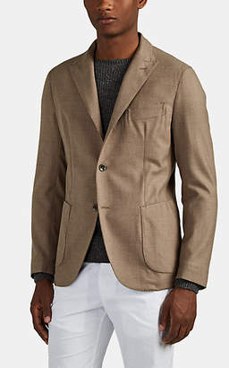 Eleventy Men's Worsted Wool Two-Button Sportcoat - Sand