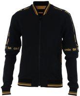 Dolce & Gabbana Black Printed Zipped Sweater
