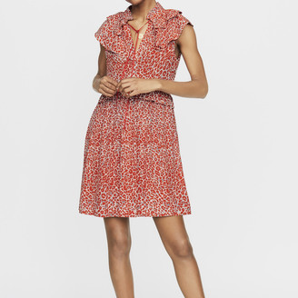 Maje Sleeveless leopard print dress