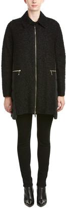 Moncler Cathy Wool-Blend Down Coat