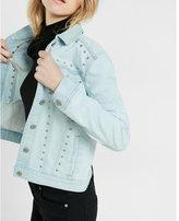 Express studded denim trucker jacket