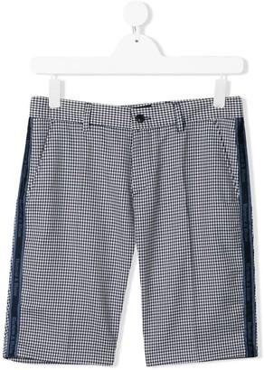 Harmont & Blaine Junior TEEN houndstooth check deck shorts