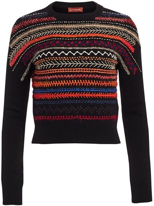 Altuzarra Oakley Embroidered Merino Wool & Cashmere Sweater