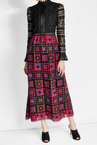 Anna Sui Embroidered Dress with Lace and Crochet