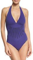 Lise Charmel Esprit Aborigine Halter One-Piece Swimsuit, Blue