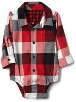 Gap Plaid flannel shirt bodysuit
