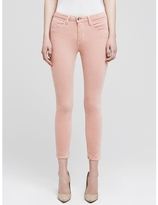 L'Agence The Margot Velvet High Rise Ankle Skinny In Blush