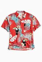 Urban Outfitters Electric Toucan Rayon Short Sleeve Button-Down Shirt