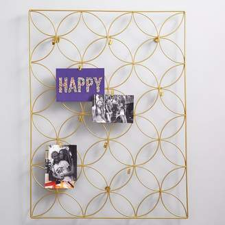Pottery Barn Teen Floral Wire Photo Grid, Gold