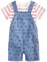 First Impressions 2-Pc. T-Shirt & Star-Print Overall Set, Baby Boys (0-24 months), Only at Macy's
