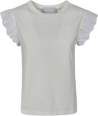 Philosophy di Lorenzo Serafini Ruffled Sleeve T-shirt