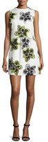 Milly Astrid Magnolia-Print Dress, Citron
