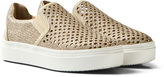 Stuart Weitzman Gold Slip On Trainer