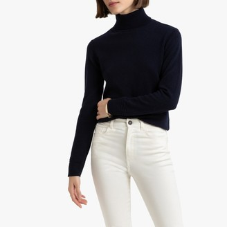 La Redoute Collections Cashmere Fine Knit Jumper with Roll Neck