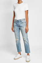 Rag & Bone Distressed Mid-Rise Crop Jeans