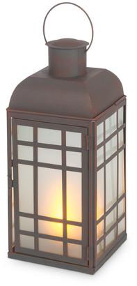 Everlasting Glow 15In Rustic Brown Metal Lantern
