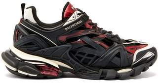 Balenciaga Track 2 Trainers - Womens - Black Burgundy
