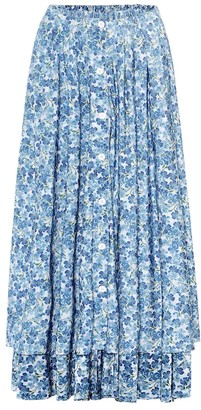 Vetements Floral midi skirt