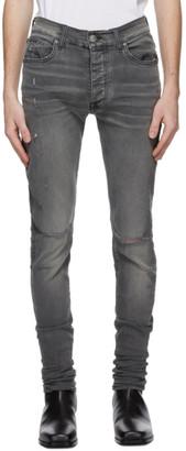 Amiri Grey Slit Knee Jeans