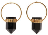 Isabel Marant Gold & Black Stone Earrings