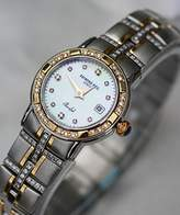 Raymond Weil Watches Parcifal Steel and 18k Mother of Pearl Dial Diamond Hour Markers Diamond Bezel and Bracelet Date Swiss LIMITED EDITION Women's Watch