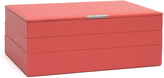 Wolf Large Stackable Tray Set, Coral