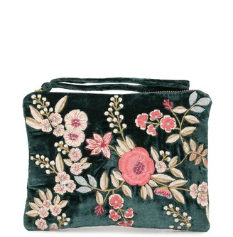 Anke Drechsel Embroidered Floral Clutch Bag