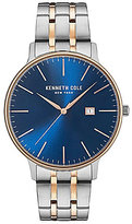 Kenneth Cole Two-Tone Analog & Date Bracelet Watch
