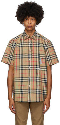 Burberry Beige Coleford Short Sleeve Shirt