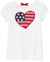 Gymboree Gem Sequin Flag Heart Tee