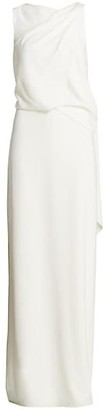 Halston Asymmetrical Draped Gown